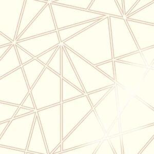 PALADIUM-GEOMETRIC-WALLPAPER-CREAM-ROSE-GOLD-HOLDEN-90113-FEATURE-WALL-NEW