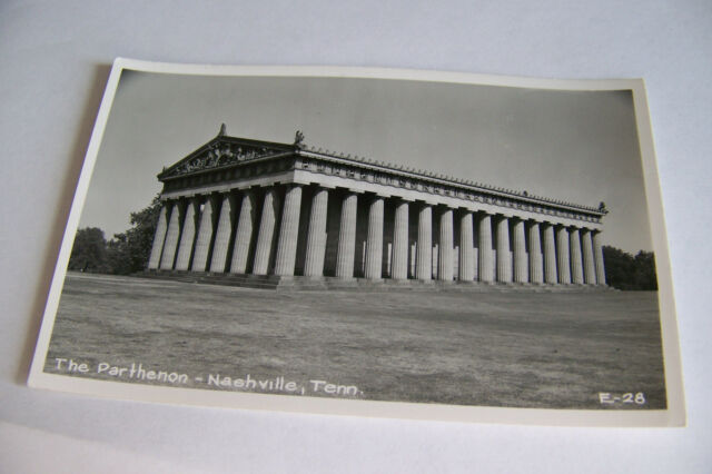Rare Vintage RPPC Real Photo Postcard B2 New York Parthenon Nashville Tennessee