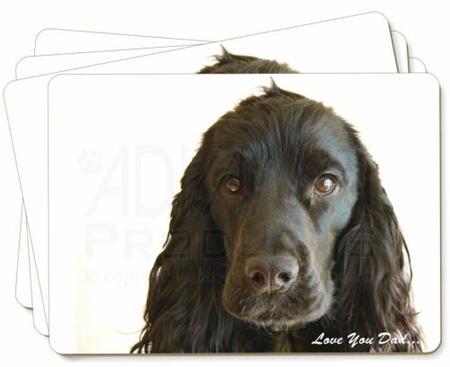 Black Cocker 'Love You Dad' Picture Placemats in Gift Box, DAD104P