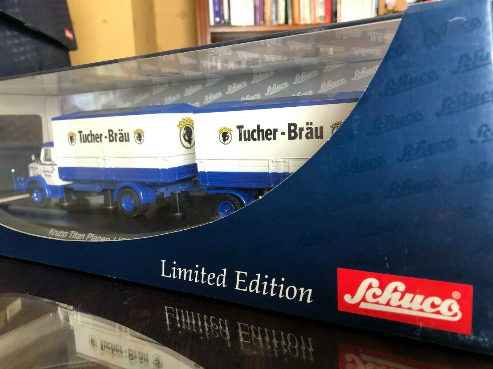 los últimos modelos 1 43 SCHUCO KRUPP TITAN Planen Edición Limitada Limitada Limitada camión Nª 03036  contador genuino
