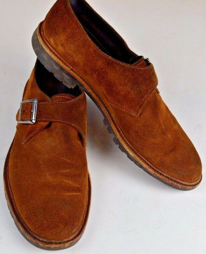To Boot New York Men's Suede Slip On shoes Sz 8.5 Brown Suede  Monk Career