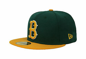 New Era 59Fifty Cap MLB Brooklyn Dodgers Coop 2 Tone Dark Green Gold Fitted Hat
