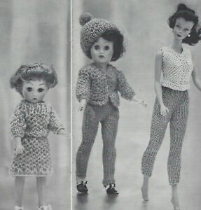 Vintage Knitting Pattern To Make Doll Clothes Barbie American Wardrobe 8 19 Ebay