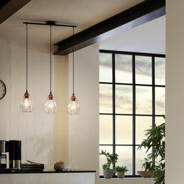 Pendelleuchte E27 schwarz Stahl Vintage Wohnzimmer