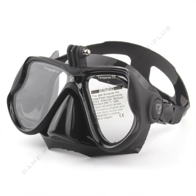 Black Diving Mask Scuba Snorkel Goggles Face Glasses Mount for GoPro Hero 3 3+ 4
