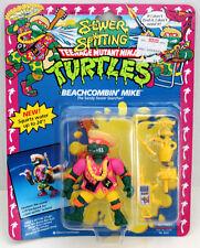 TMNT TEENAGE MUTANT NINJA TURTLES BEACHCOMBIN MIKE RARE W/ZOLO CASE  MOC 1992
