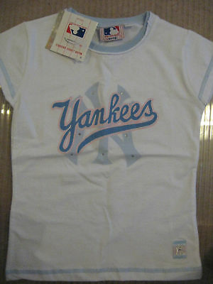 Bellissimo New Girl's Ufficiale Ny Yankees New York Yankees T Shirt M 152 Cm 10 11 12 Anni-