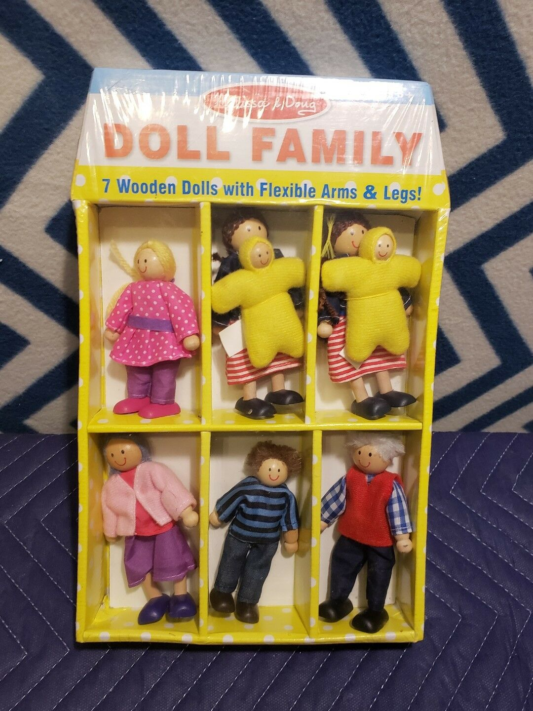 WOODEN  DOLL FAMILY 2464 ~ FREE USA SHIPPING ~ Melissa /& and Doug