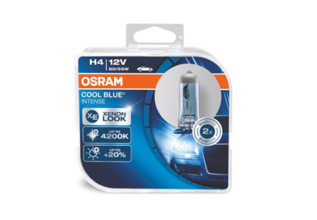 Osram H4 64193 Cbi Cool Blue Intense Halogen Lamps Duo Box (2 Piece)