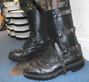 VINTAGE-SWISS-ARMY-LEATHER-LEG-GAITERS