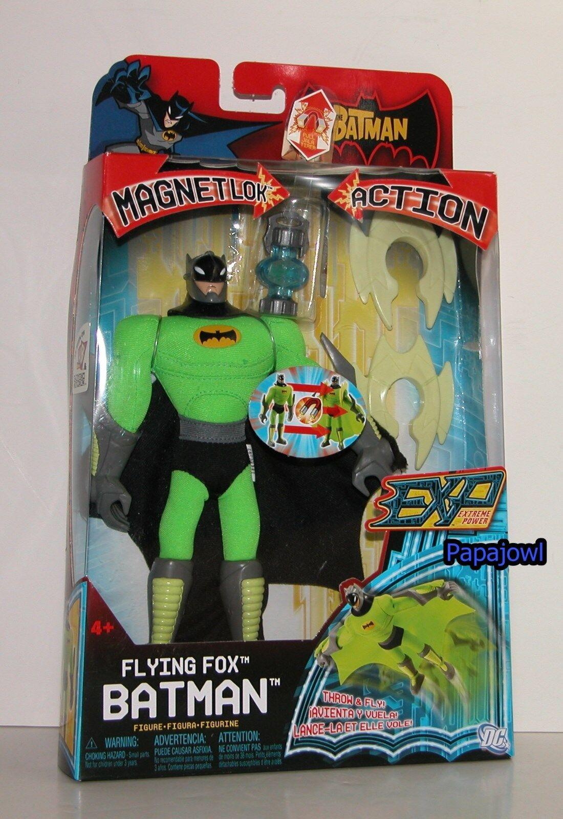 EXP Extreme Power Flying Fox Batman Magnet lok Action 8  Action Figure DC Mattel