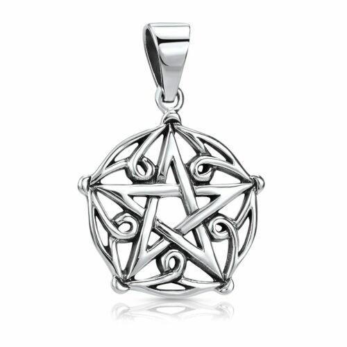 Gothic Halskette Herren MATERIA Pentagramm Anhänger Stern Kette 925 Silber
