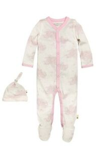 Burts-Bees-Baby-Girl-Coveral-And-Hat-Pink-Size-3-6-M