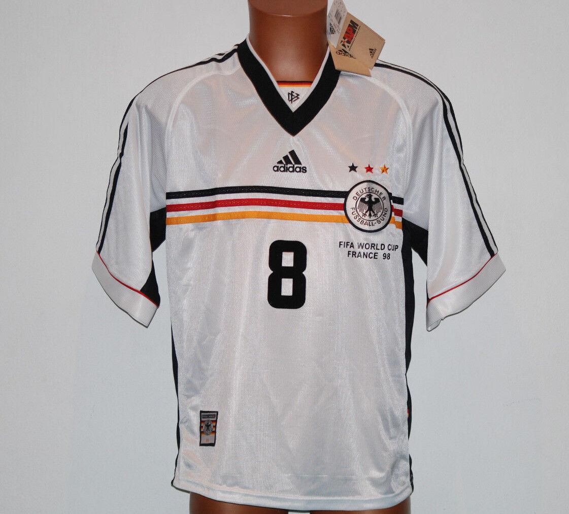 Maglia deutschland Matthaus Germania World Cup 1998 trikot Large adidas jersey