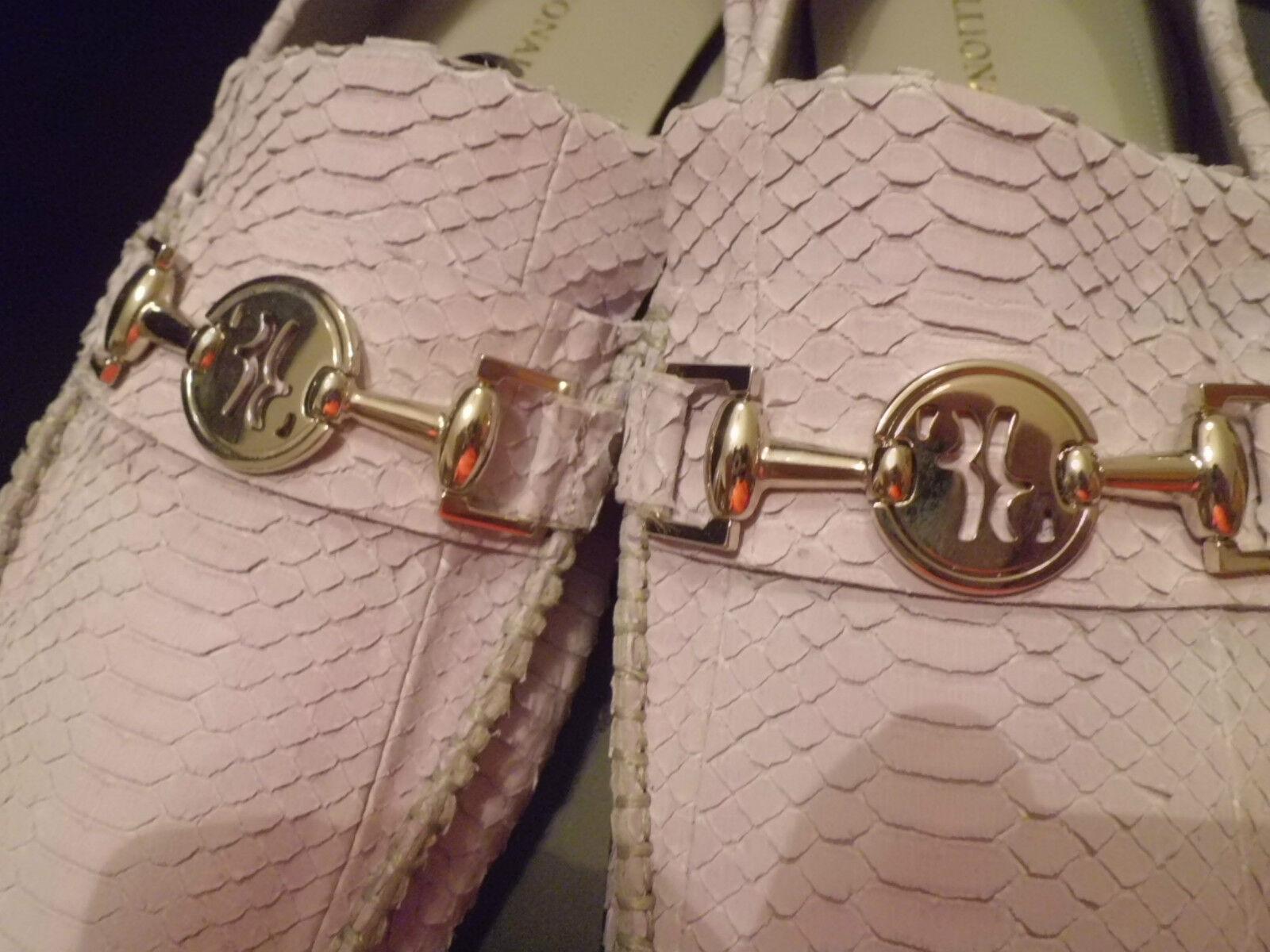 BILLIONAIRE Italian Couture Mocassino Uomo  Pitone  Fibia size  size Fibia 44 86abbb