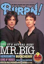Burrn! Heavy Metal Magazine September 2001 Japan Mr. Big Guns N' Roses G3