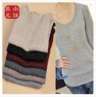 Women Lady Knitted Basic Slim Knitwear Long Sleeve Pullover Sweater Tops Jumper