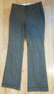Banana Republic Women's Gray The Martin Fit Stretch Dress Pants Sz 2P Wool Blend