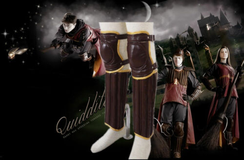 Harry Potter Movies Leg /& Arm guard Gloves cosplay Quidditch Outfit Leather set
