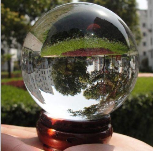 50pcs Asian Quartz Pure Clear Magic Crystal glass Healing Ball Sphere 40mm+Stand