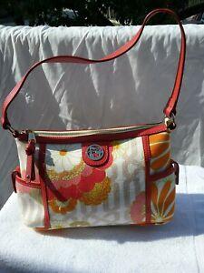 NWT Spartina 449 Waving Girl Bold Floral Dockside Zip Shoulder Bag - used once.