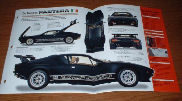 ★★1986 DE TOMASO PANTERA GT55 SPEC SHEET BROCHURE POSTER PRINT PHOTO 86 GT 55★★