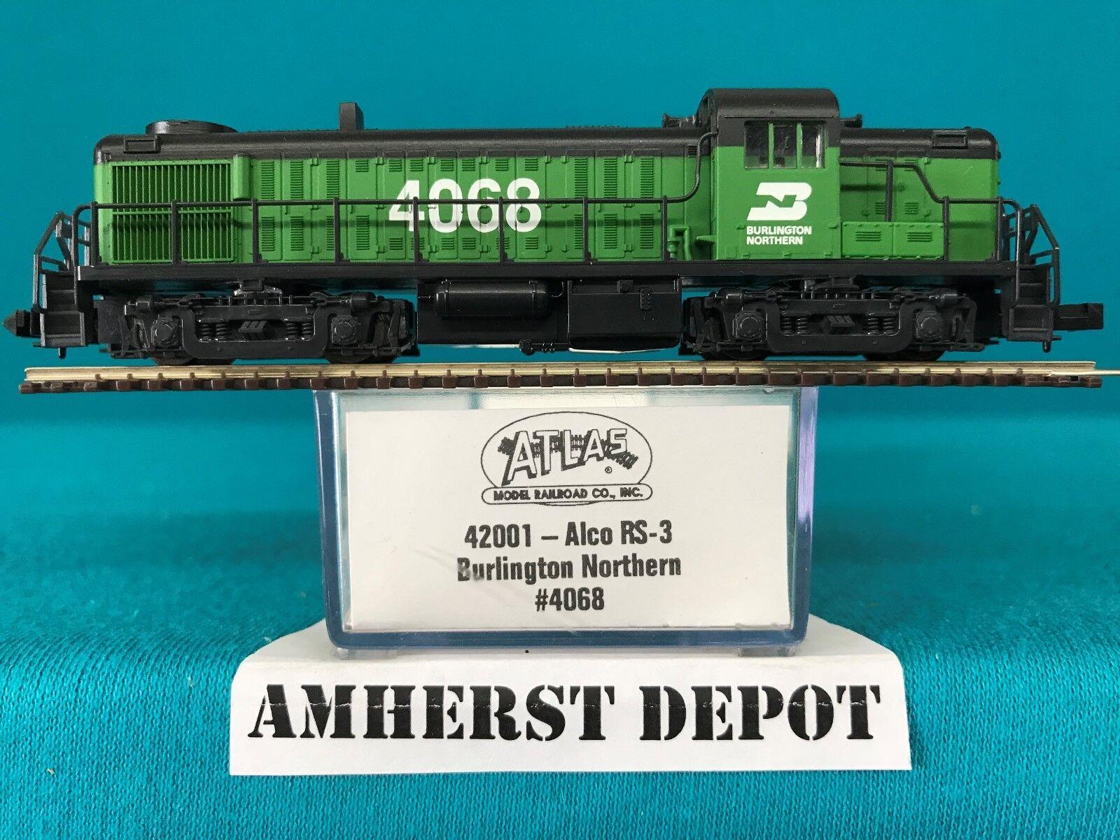 42001 Atlas N Scale RS-3 Burlington Northern Engine NIB