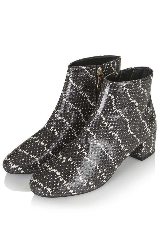 New TOP SHOP 'Betty' Snake Print Side Zipper Ankle Boot Größe 39 (9 US)