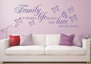 X259-WANDTATTOO-Spruch-Family-is-life-Familie-love-Wandsticker-Wandaufkleber