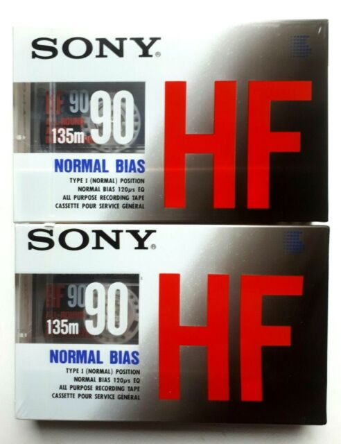 (2) Sony HF 90 Normal Bias ( Type 1 ) Audio Cassettes Made In Japan  New Sealed