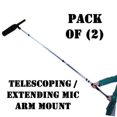 Pack of (2) Pyle PMKSB06 Microphone Shotgun Fishing Boom Pole Telescoping Arm