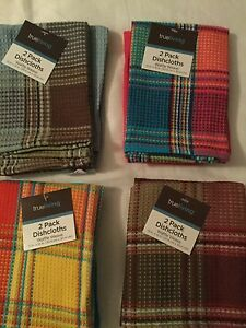 True Living 8 Pack Waffle Weave Dishcloths 12in X 12in