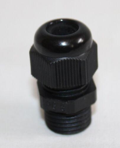 6 x cable unión roscada pg9 pg 9 de plástico negro nuevo
