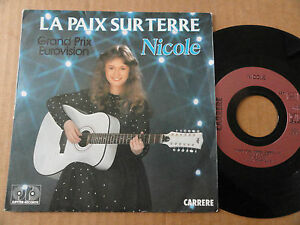DISQUE-45T-DE-NICOLE-034-LA-PAIX-SUR-TERRE-034-EUROVISION-1982