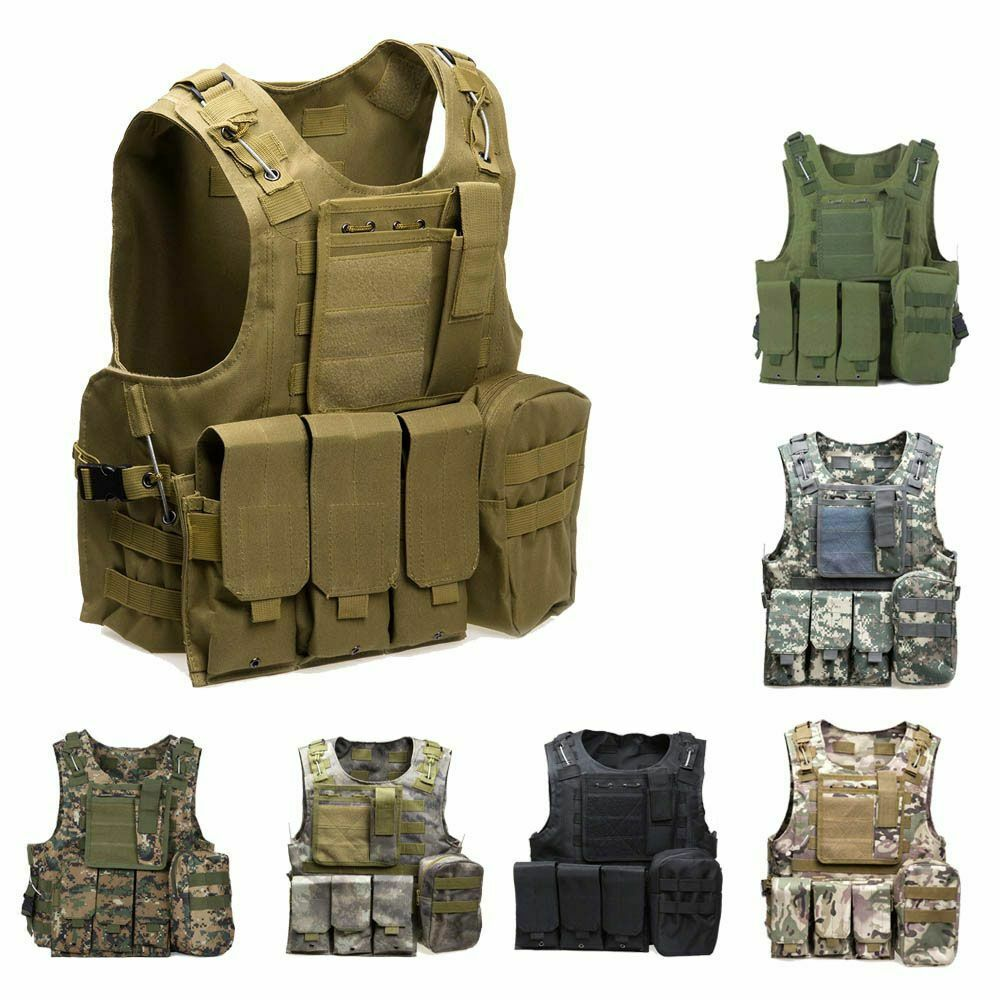 Hunting Tactical Vest Airsoft Paintball Assault Plate Carrier Hunting Predection