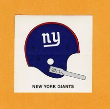 1960s NY NEW YORK GIANTS 3inch 1 BAR HELMET KRAFT PAPER BACK DECAL Unsold Unused