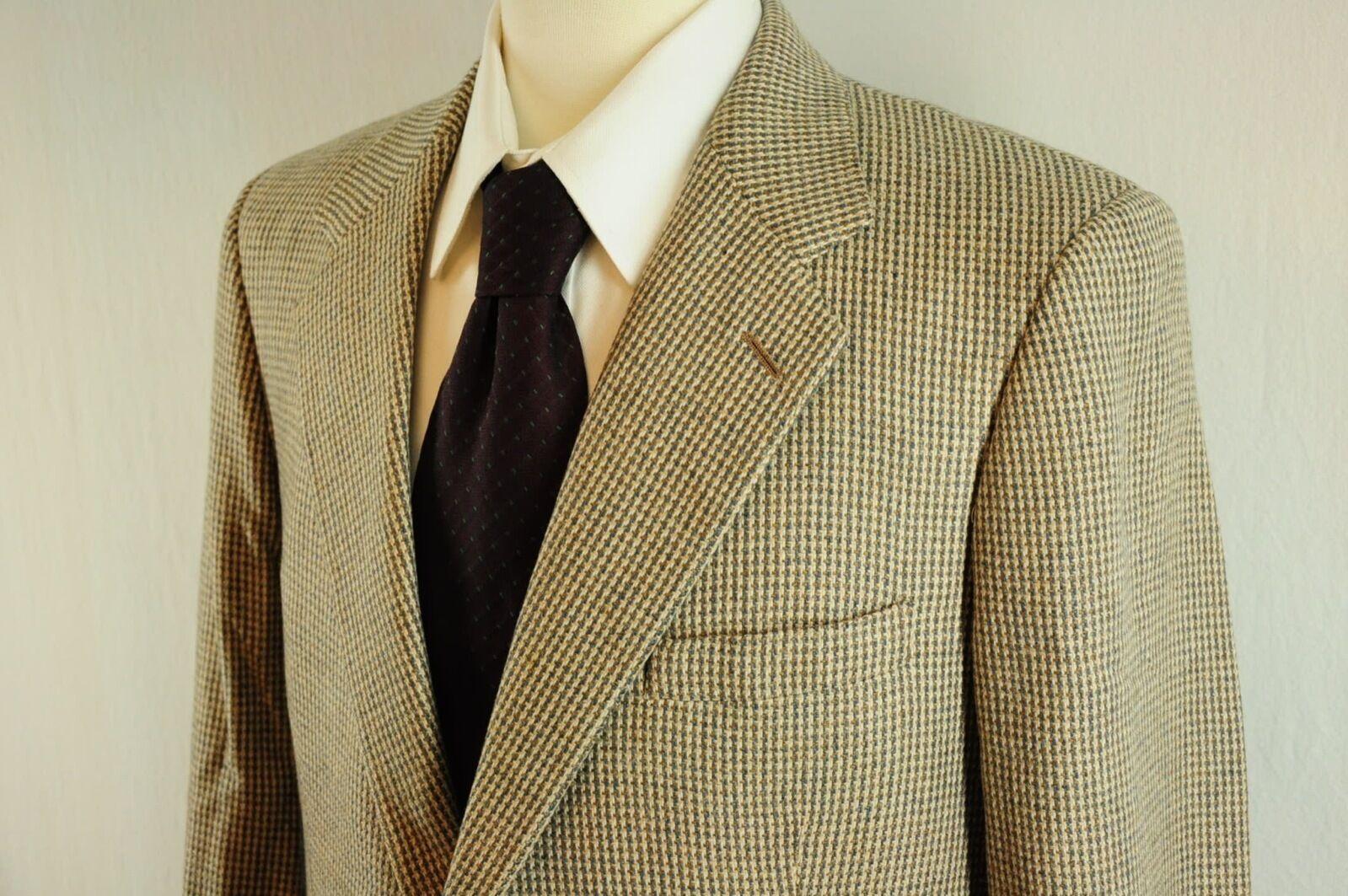Saks Fifth Avenue 100% Cashmere Braun Tweed Sport Coat Tons of Handwork  40