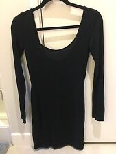 Forever 21 Black Body Con Dress Size Medium