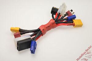 Mega-Adapter-Mehrfach-Adapterkabel-XT60-EC3-Tamiya-TRX-T-Stecksystem