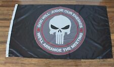 New Punisher Skull God Will Judge Our Enemies Flag Seal Military America USA