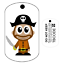 Travel Bug Capitaine Pirate Pour Geocaching-traçable Tag