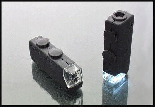 Humoristique Led Lumineux Zoom 60-100x Poche Mini Microscope Toujours Acheter Bien