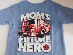 Boys-Size-12-18-24-Months-T-Shirt-Fire-Truck-Moms-Hero-Toddler-Childrens-Place