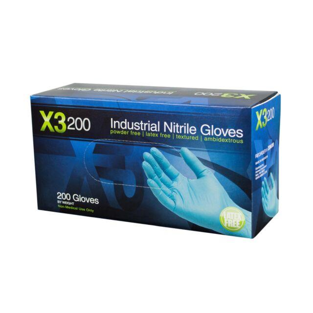 100-2000 Disposable Nitrile Exam Glove Powder Free Strong Non Latex Vinyl Blue