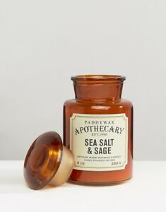 Paddywax-APOTHECARY-8oz-Soy-Wax-Candle-Brown-Glass-Jar-Assorted-Scents