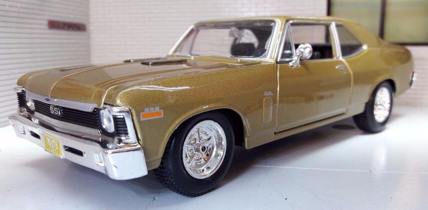 G LGB 1 24 Scale Diecast Diecast Diecast Very Detailed 1970 Chevrolet Chevy Nova SS Motormax f1e0c3