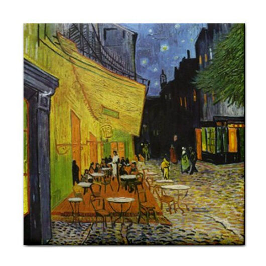 Van Gogh Night Terrace Art Ceramic Tile Coaster
