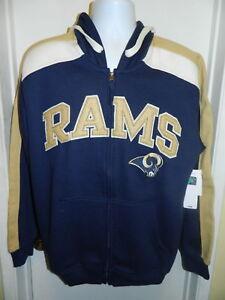 20ed4ac13 Los Angeles Rams New NFL Football Zip Up Jacket Stitched Mens Medium ...