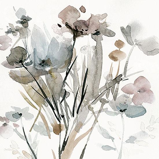Carol Robinson  Dainty Blooms I Keilrahmen-Bild Leinwand Blaumen Aquarell modern
