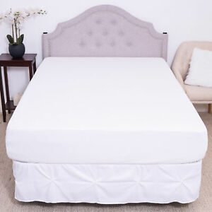 Premium-Cotton-Terry-Cloth-Blend-Waterproof-Fitted-Mattress-Bed-Cover